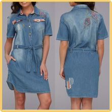 fashion embroidery design women denim dress from china Best Seller follow this link http://shopingayo.space
