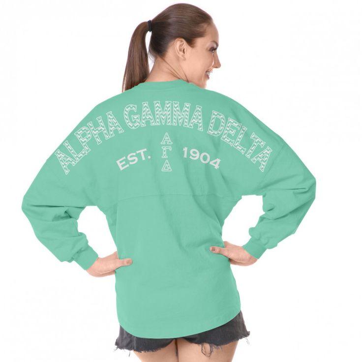 Alpha Gamma Delta Est. 1904 (Chevron Prep) Spirit Football Jersey®