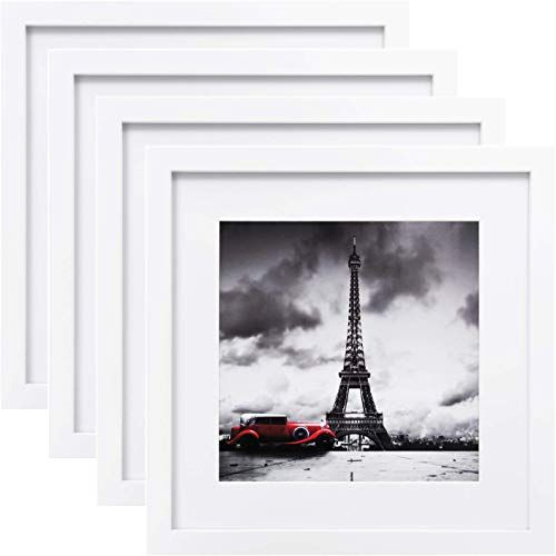 Enjoy Exclusive For Egofine 11x11 Picture Frames 4 Pcs Made Solid Wood Pictures 4x4 8x8 Mat Table Top Display Wall Mounting Square Photo Frame White Online In 2020 Picture On Wood Framed