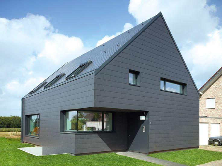 haus mit dach und fassade von eternit satteldach haus. Black Bedroom Furniture Sets. Home Design Ideas