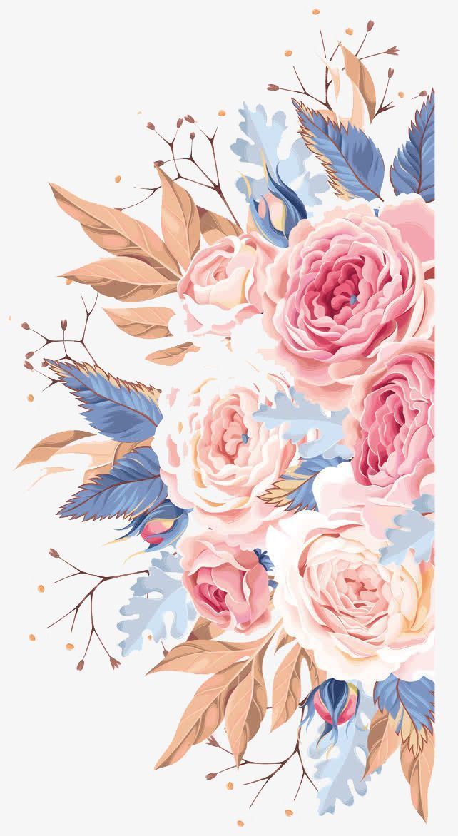 Watercolor Flowers Watercolor Clipart Pink Flower Png