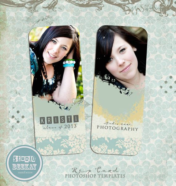 INSTANT DOWNLOAD Senior Rep Card Template by StudioBeeKay on Etsy, $5.00