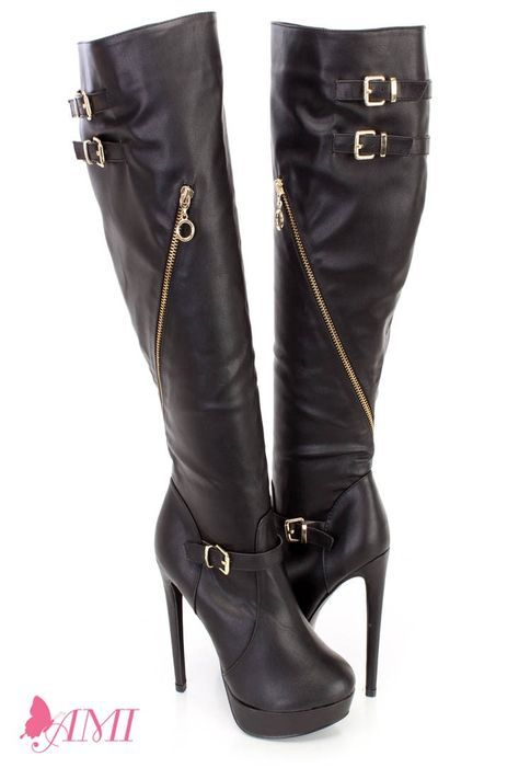 33bee1bbe8a9 These sexy and stylish high heel platform boots features a faux leather  upper with an outer