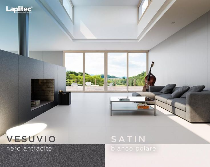 Our sintered stone range: Lapitec's resistance to very high heat makes it ideal for kitchen top and fireplaces.  Featured here are two different Lapitec finishes and colors.