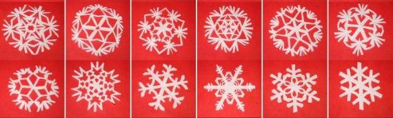 Tutorial: fiocchi di neve di carta