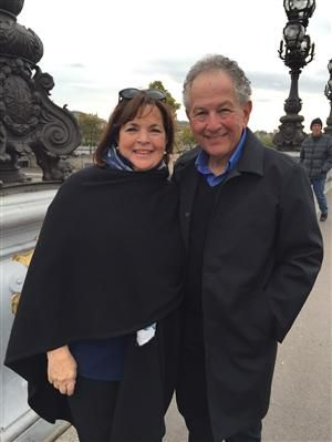 "Ina Garten (The Barefoot Contessa) and her adoring husband Jeffrey - in Paris 2015 filming a new special ""Americans in Paris""."