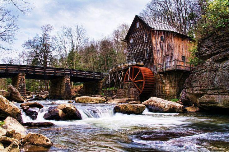 Stary, Młyn, Most, Rzeka, Kamienie