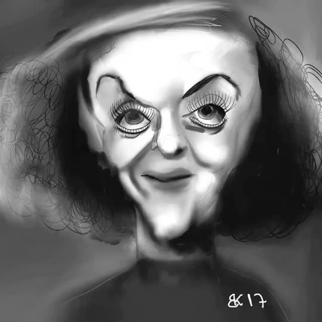 Daily sketch 0076 - How to Draw Caricature of Bette Davis  My Daily sketch - by Brian Kristensen How to Draw #Caricature of #Bette #Davis  #Practice #DailyPic #DailySketch #DailyDrawing #Drawing #Sketching #Progress #HowTo #HowToDraw #Video #Sketch #DIY #illustration #illustrationartist #illustrator #applepencil #ipadpro #procreate #bettedavis #karikatur #cartoon @bettedavisestate  Please comment with critic so i Can practice my #illustration skills.  See all sketches on my blog…