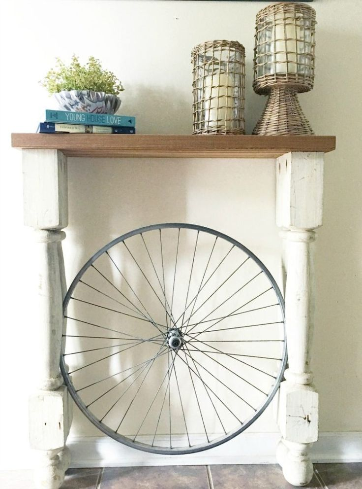 Bicycle Wheel Entry Table