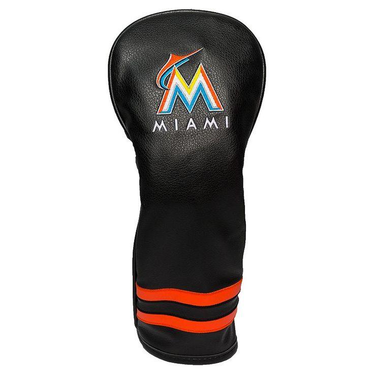Team Golf Miami Marlins Vintage Fairway Headcover, Multicolor