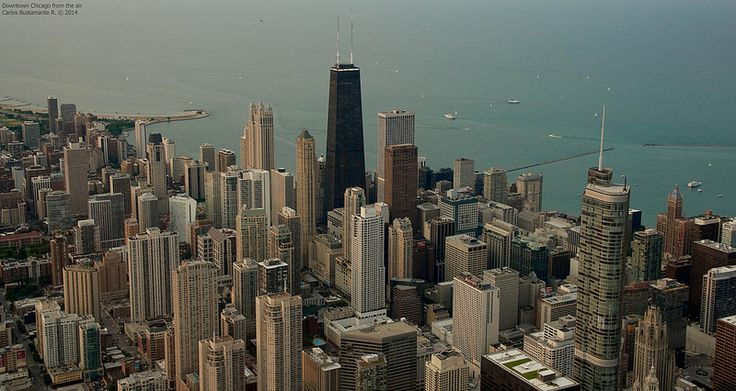 Downtown Chicago from the air