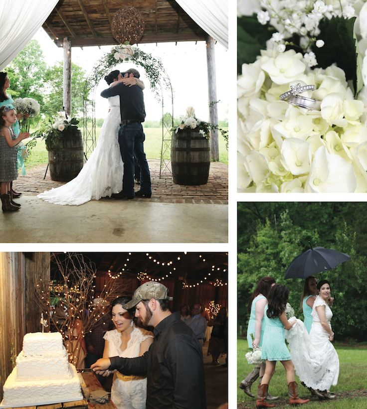 Casual attire and an outdoor wedding venue - love it! See more from this casual country wedding in Memphis! Pics by @masseywening, catering by Germantown Commissary | The Pink Bride® www.thepinkbride.com