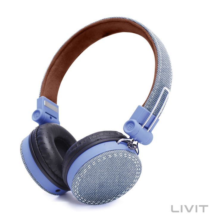 Livit Denim Headphones - Ocean Foam