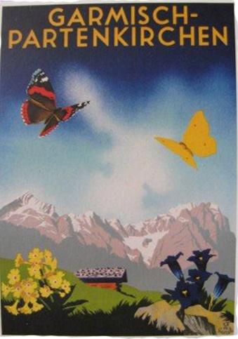 Garmisch-Partenkirchen vintage poster