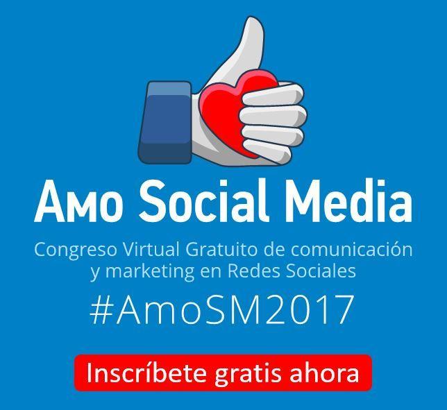 ¡Mañana es el gran día!  Aprovecha para inscribirte en el el Congreso Virtual #AmoSM2017. Esta es una gran oportunidad para que actualices de manera gratuita tus conocimientos en comunicaciones y marketing.