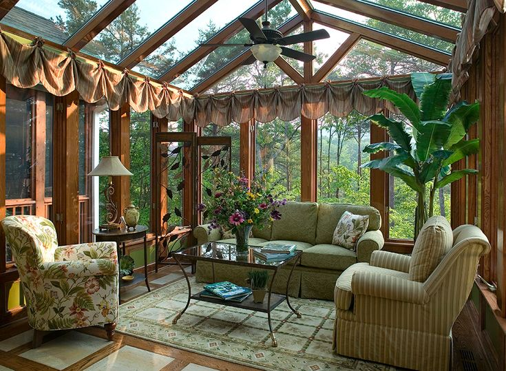 DIY Tips for How to Build a Sunroom...I like the stained wood.