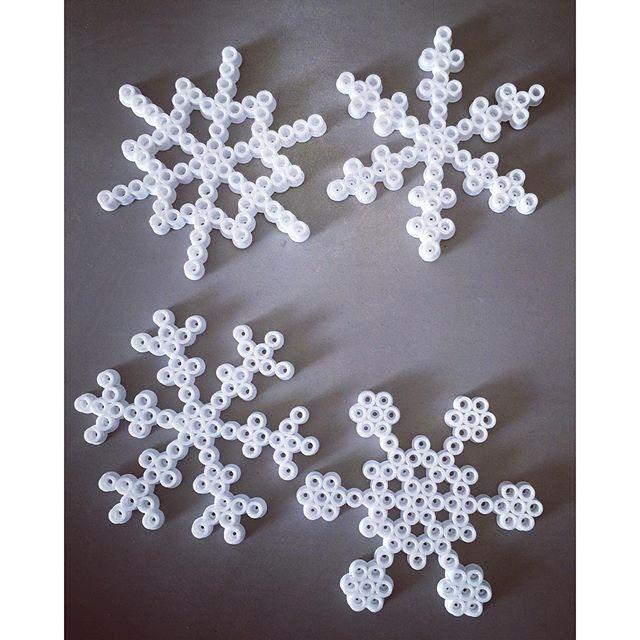 Snowflakes perler beads by  brilliantlymessy