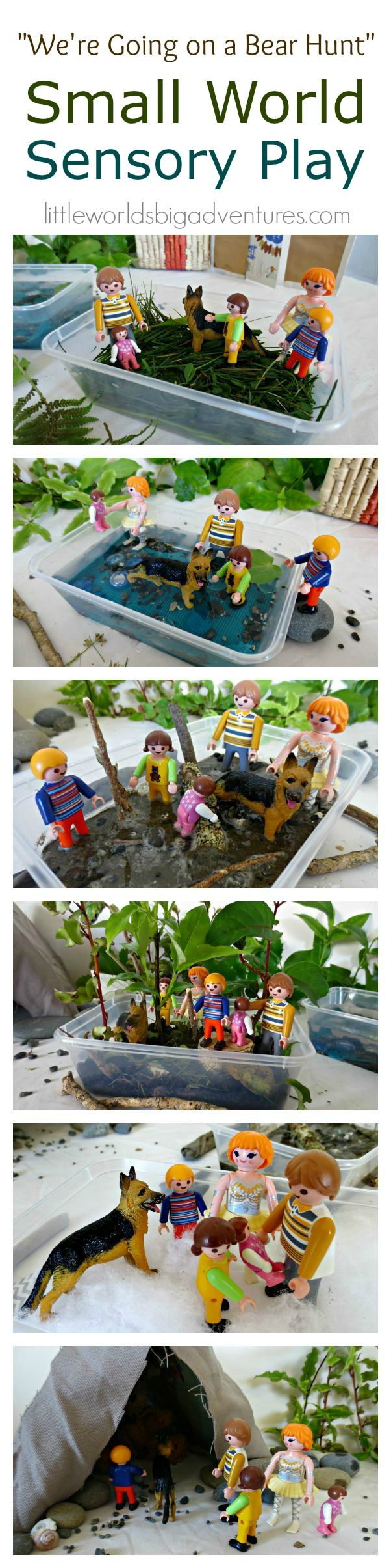 Creative storytelling of the favourite book by setting up a simple sensory small world using natural and every day materials. Perfect toddler and preschool activity. | Little Worlds Big Adventures