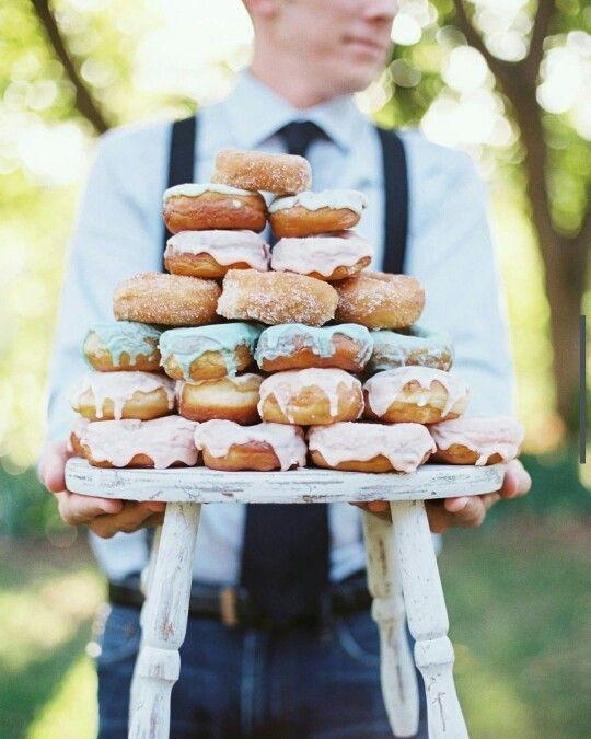 Hourglass Imaging. Wedding. Styled photoshoot. Groom. Donuts. Rustic. Birch+Baker. Dessert.