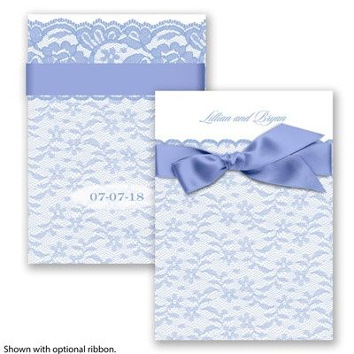 Lace Tranquility Wedding Invitation by David's Bridal #laceweddings #weddinginvitations