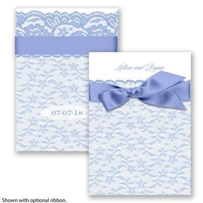 Lace Tranquility Wedding Invitation by David's Bridal #laceweddings #weddinginvitations