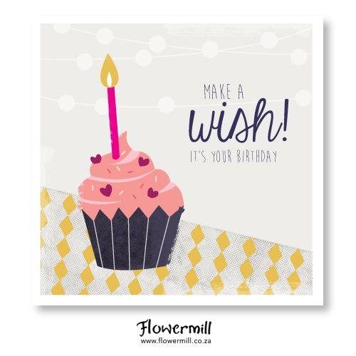 Make a Wish Cupcake! www.flowermill.co.za
