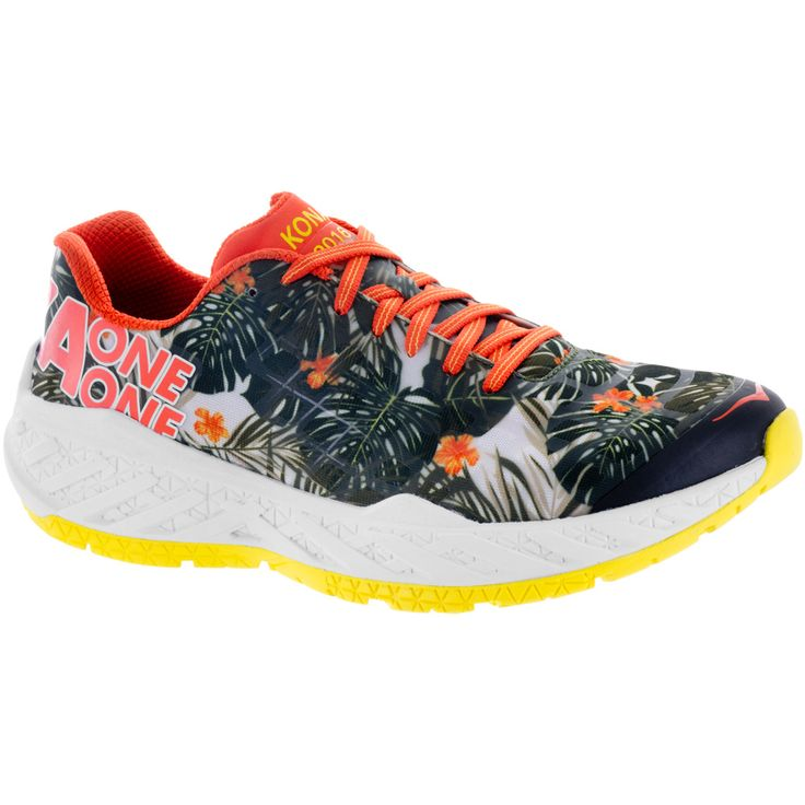 Hoka One One Clayton Kona Edition: Hoka One One Women's Running Shoes - Shoes Features ✅ The Hoka One One Clayton Kona Edition running shoe is one of the lightest models from this maximalist brand. This special edition features a tropical graph