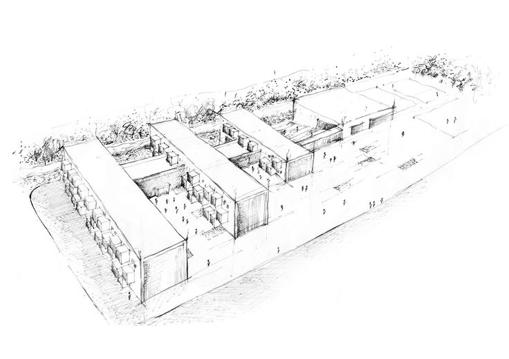 School complex- sketch, Ivana Linderova, 2014