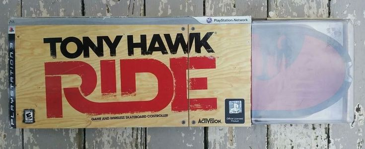 Tony hawk ride bundle limited edition red board playstation 3 skateboarding  | eBay