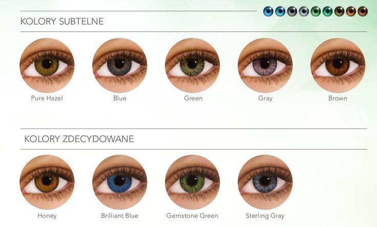 Aż 9 kolorów! A co najważniejsze na zdrowszych silikonowo-hydrożelowych #soczewkach #kontaktowych