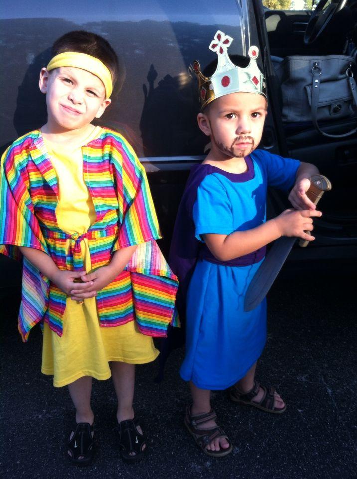 Joseph and King David costume ideas Bible character costume ideas