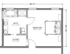 one room home addition plans - 24x15 master suite just needs laundry room