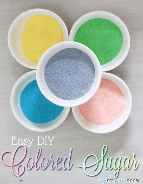 DIY colored sugar - would be perfect for Easter brunch! #Sugar #DIY #Easter