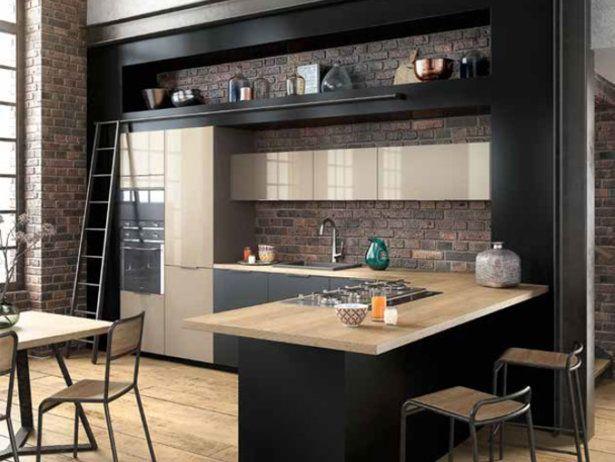 Les 25 meilleures id es de la cat gorie mobilier de for Cuisine noir brillant