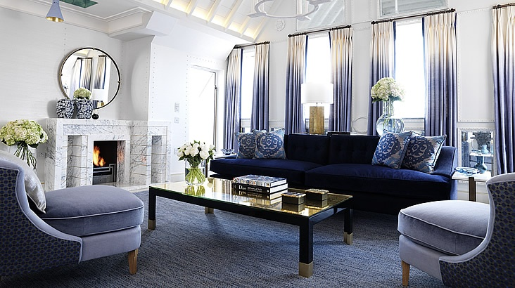 Maybourne Hotel Group London: Living Rooms, Davidcollin, Dips Dyed, David Collins, Color, Interiors Design, Ombre Curtains, Apartment, Connaught Hotels