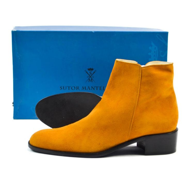 Add some color, in these SUTOR MANTELLASSI Italy Orange Suede Ankle Boots Shoes!  |  Want your own? http://www.frieschskys.com/footwear  |  #instastyle #mensfashion #mensstyle #menswear #dapper #stylish #MadeInItaly #Italy #couture #highfashion