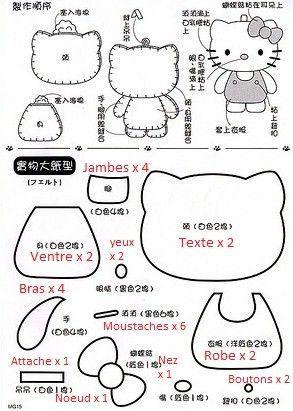 Feutrines & Tissus - Petits Plaisirs Bon… - Kokeshi Et Son… - Hello Kitty…