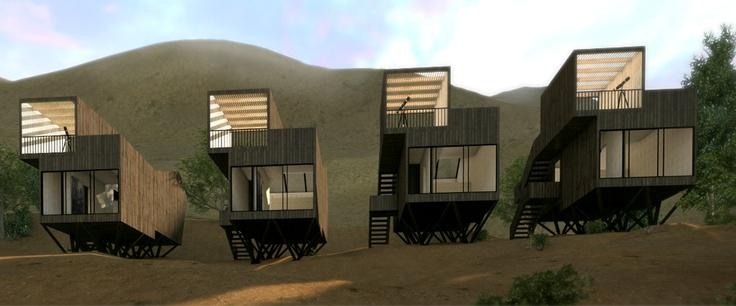 Hotel Elqui Domos, render cinemarquitectura