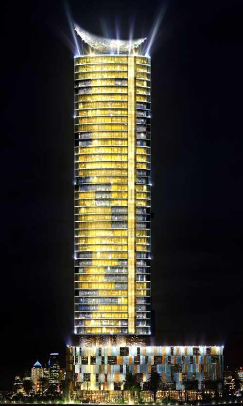 abu dhabi high rise buildings at night  2017 Dubais