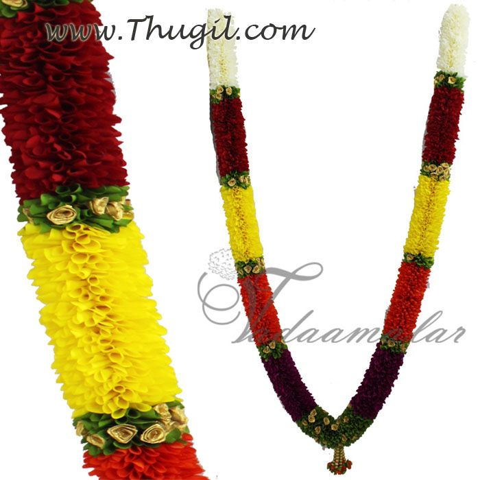 Large size doorway garland malai tapestry  http://www.thugil.com/thick-door-garland-mala.html