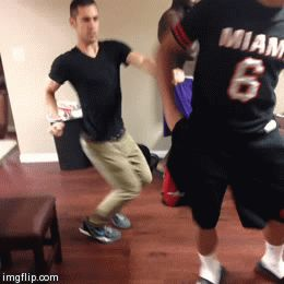 Odell Beckham dancing with Friends LSU BOYS