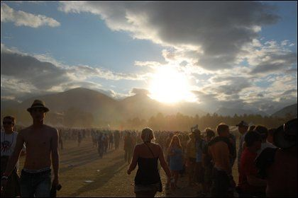 Pemberton Music Festival 2008  - missing that dusty sunset and those beautiful mountains. Opening up my tent to the Rocky Mountain horizon is something I'll never forget.