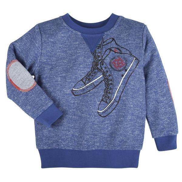 Blue Sneaker Sweatshirt
