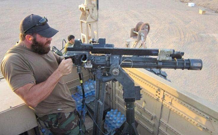 MilitaryPorn: MARSOC Marine firing a vehicle-mounted M134 minigun ...