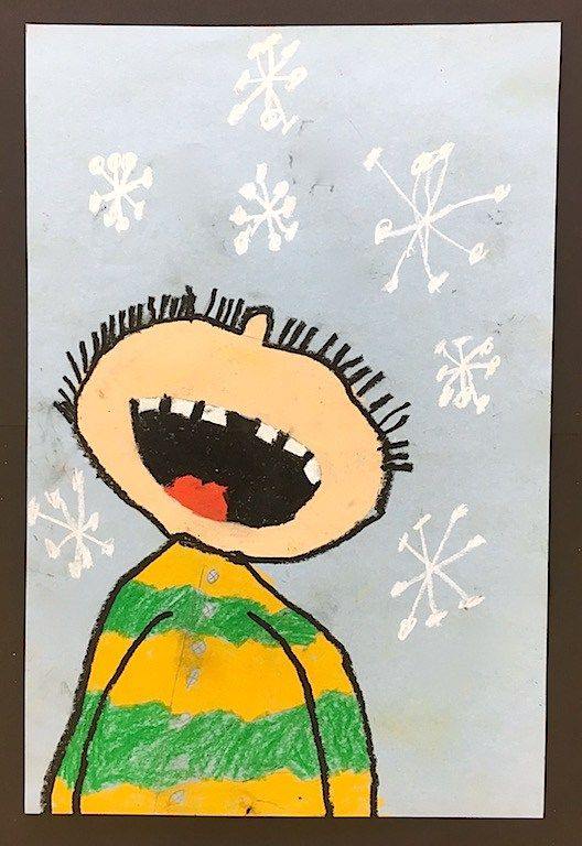 2nd Grade Art Lessons – Art with Mrs Filmore- portraits- catching snowflakes- winter drawings- oil pastels