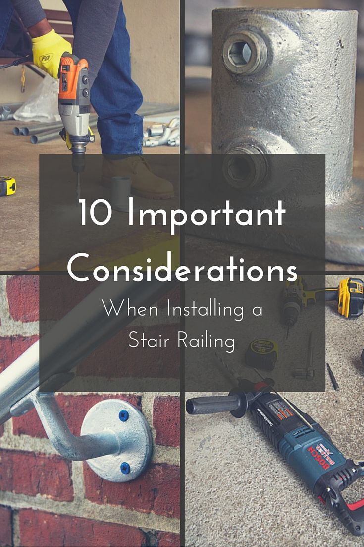 10 Important Considerations When Installing a Stair Railing  #SimpleRail #stairrailing