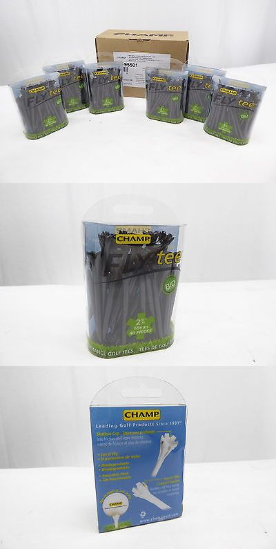 Golf Tees 18931: Lot Of 6 - New - Champ - Biodegradable Tees - 40 Piece Pack - Black - Free Ship -> BUY IT NOW ONLY: $34.99 on eBay!