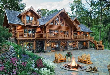 perfect: Logcabin, Dreams Home, Logs Cabin Home, Dreams House, Firepit, Logs Home, Logs House, Fire Pit, Dreamhous