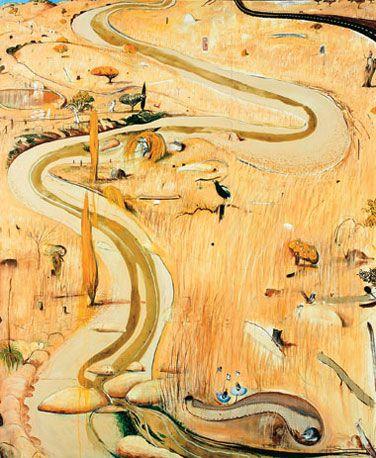 Brett Whiteley Summer at Carcoar (1977) 244.0 x 199.0cm oil and mixed media on…