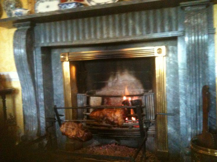 Leg of Lamb- Longueville Style! Slow roasted in front of an open Oakwood Fire